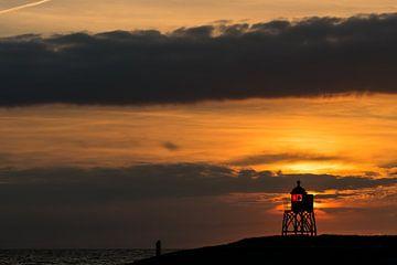 Een schitterend wolkenspel boven Friesland van Damien Franscoise