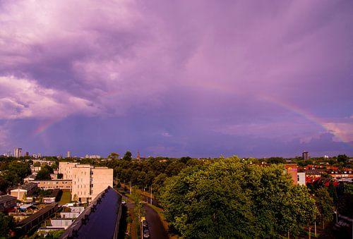 Regenboog boven Eindhoven