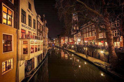 Utrecht Gaardbrug bij nacht, Nederland