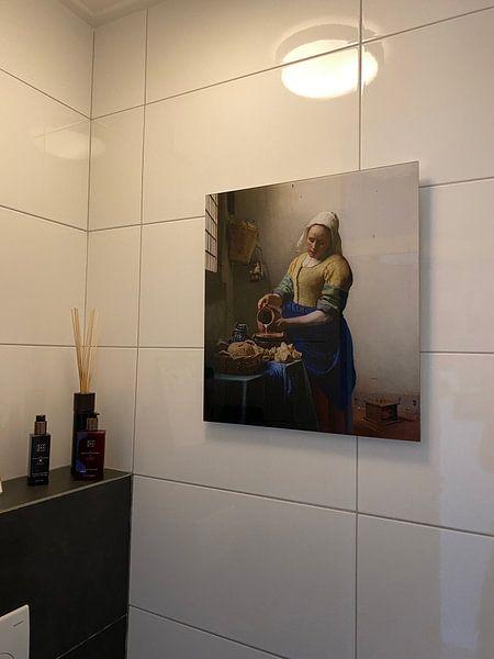 Klantfoto: Het Melkmeisje - Vermeer Schilderij (HQ), op acrylglas