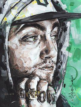 Mac Miller Malerei von Jos Hoppenbrouwers