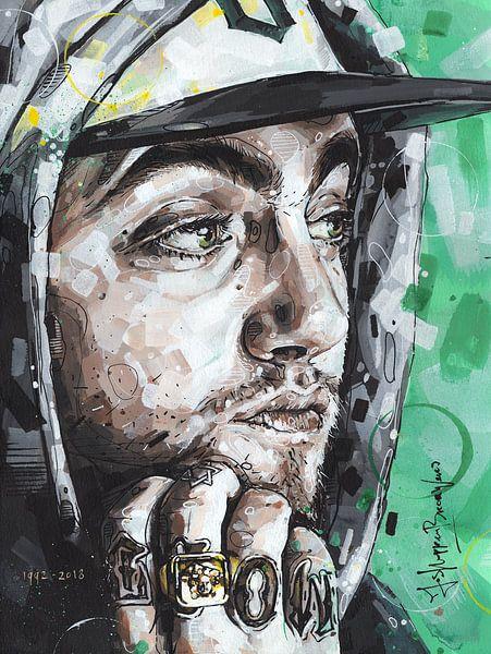 Mac Miller schilderij van Jos Hoppenbrouwers