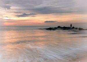 Sonnenuntergang Nordsee und Strand von Marjolein van Middelkoop