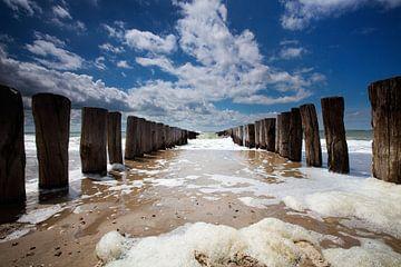 Perspectief aan zee van Johan Kramer - Freher