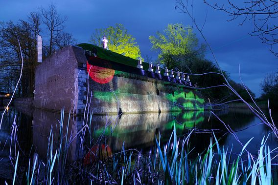 Fort Lunet 3 in Utrecht tijdens het evenement Licht op de Linie