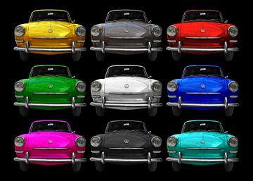 VW 1500 Type 3 in meerkleurig 2 van aRi F. Huber