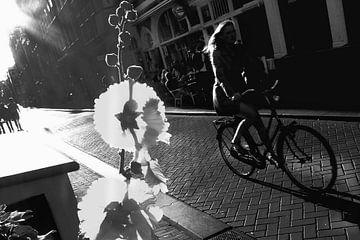 Amsterdam Malva en fiets van Marianna Pobedimova