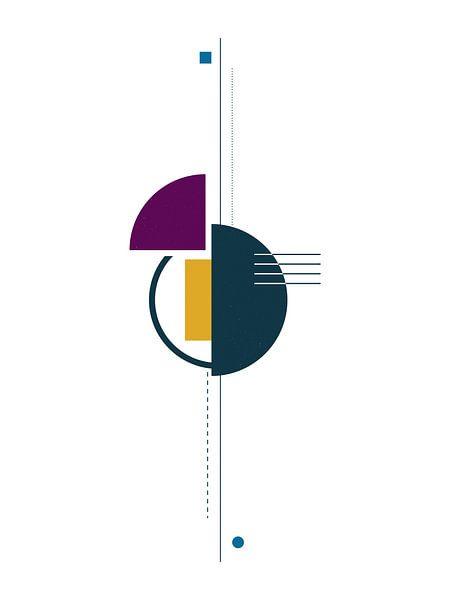 Einfachheit - Geometrischer Druck von MDRN HOME