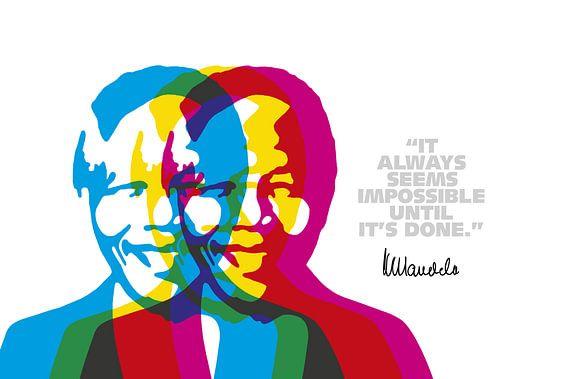 Nelson Mandela Quote van Harry Hadders