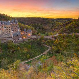Castle Eltz in autumn van Michael Valjak