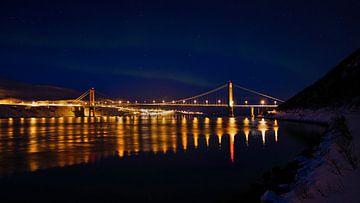 Kvalsund-Brücke im Winter von Timon Schneider