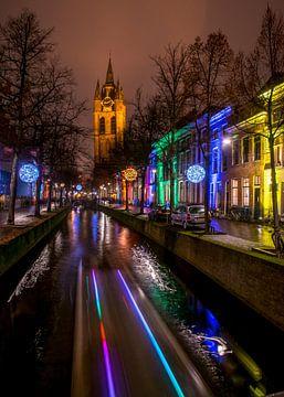 Lichtjesavond in Delft van Arina Keijzer