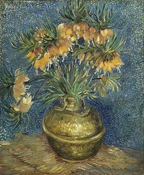 Vincent van Gogh. Zonnebloemen in koperen vaas van