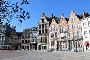 Historisch Grote Markt, Dendermonde, België van Imladris Images