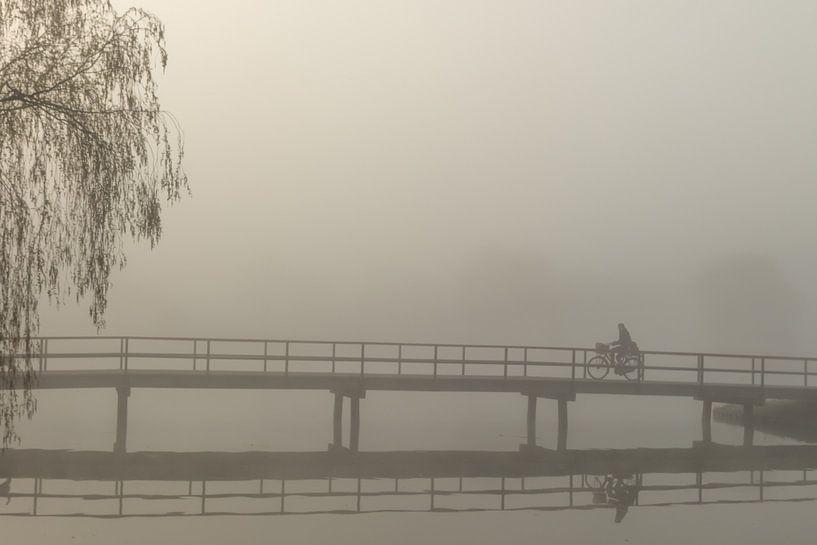 mistige ochtend van Hetwie van der Putten