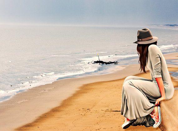 Staren naar de zee van Kim Verhoef