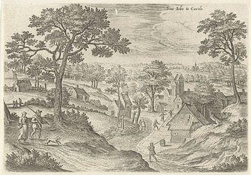 Hans Collaert (I), Blick auf den Hof van Carloo (Saint-Job in Uccle)