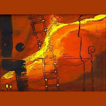 Himmelsleiter/Abstieg zur Hölle von Annabella Rharbaoui