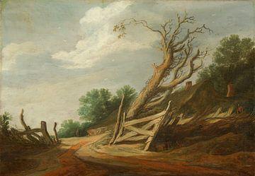 Paysage avec porte ouverte, Pieter de Molijn sur