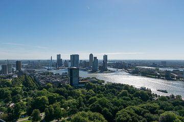 Blick von oben auf die Skyline von Rotterdam