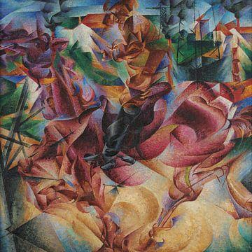Umberto Boccioni, Elasticità - 1912 van Atelier Liesjes