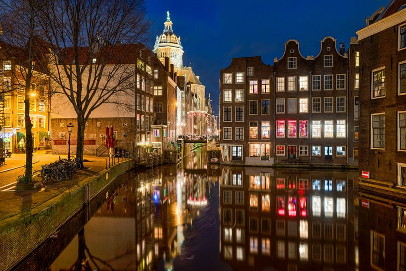 Amsterdam red light district van Fotografie Ronald