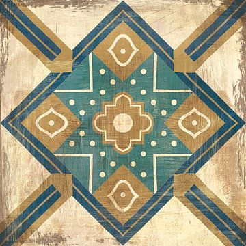 Marokkaanse tegels Blue IX, Cleonique Hilsaca van Wild Apple