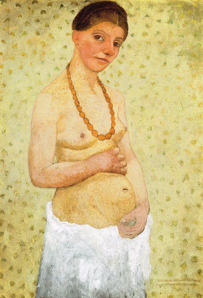 Paula Modersohn Becker.Selbstporträt schwanger von 1000 Schilderijen