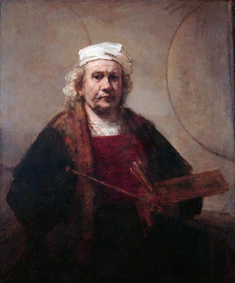 Zelfportret met twee cirkels, Rembrandt van Rijn van Meesterlijcke Meesters