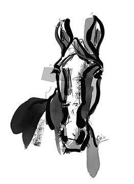 Pferd Porträt von Go van Kampen
