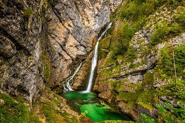 Wasserfall Savica in Bohinj, Slowenien von Bert Beckers