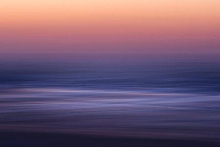 Noordzee golven zonsondergang van Jop Hermans