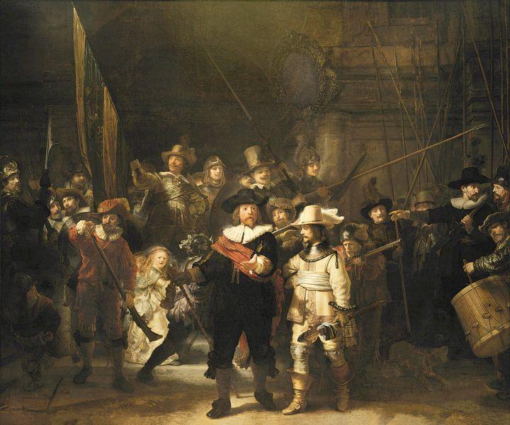 De Nachtwacht (Night Watch) van Rembrandt Harmensz. van Rijn