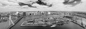 Noordereiland Rotterdam zwart/wit