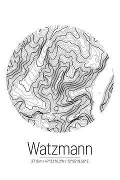 Watzmann | Kaart Topografie (Minimaal) van ViaMapia
