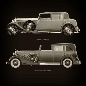 Bentley 8 Liters 1931 en Cadillac V16 Town Car 1933