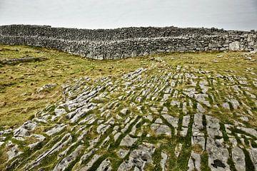 Die Karstlandschaft bei Dun Aengus auf der Insel Inis Mór, IRLAND von Tjeerd Kruse