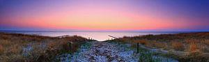 Coucher de soleil - Panorama sur la mer