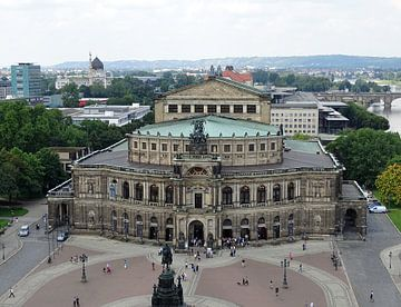 Vue sur Dresde Semperoper sur Tineke Laverman