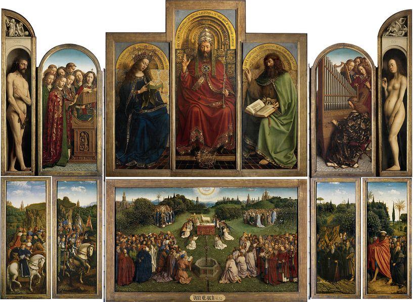 Jan van Eyck - Aanbidding van het Lam Gods van 1000 Schilderijen