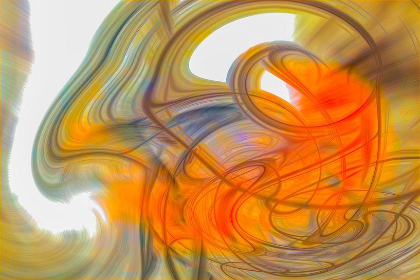 Oranje werveling van Leo Luijten