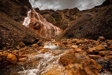 Raudafoss, een verrassende waterval in Landmannalaugar