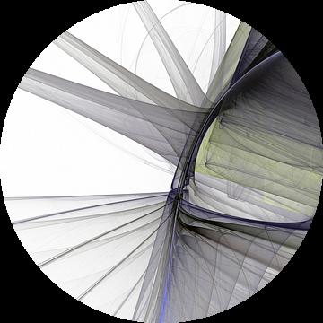 Graphic Fractal 3 van Gerrit Zomerman