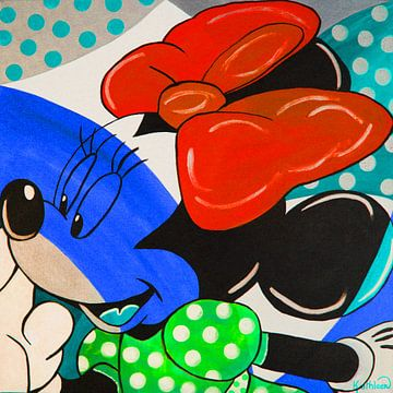 Blau Minnie von Kathleen Artist Fine Art