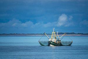 Shrimp boat on the North Sea