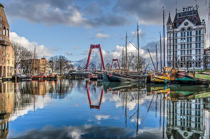 Reflectie in de Oude Haven van Frans Blok