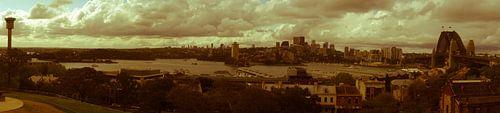 Nostalgic Sydney Harbour Panorama van Tessa Louwerens