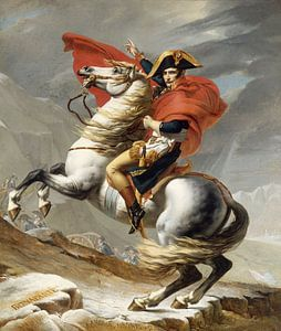 Napoleon doorkruist de Alpen, Jacques Louis David - 1802 von