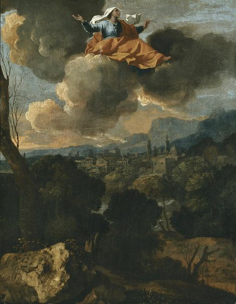 Die Übersetzung der Heiligen Rita von Cascia, Nicolas Poussin von Meesterlijcke Meesters