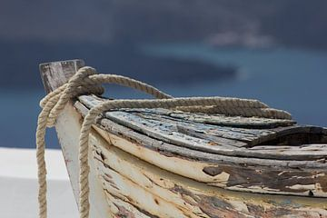 Oude griekse vissersboot von Simone Meijer